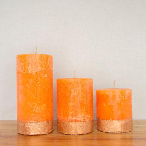 "Rose Gold n Orange (Standard: dia ""3)"