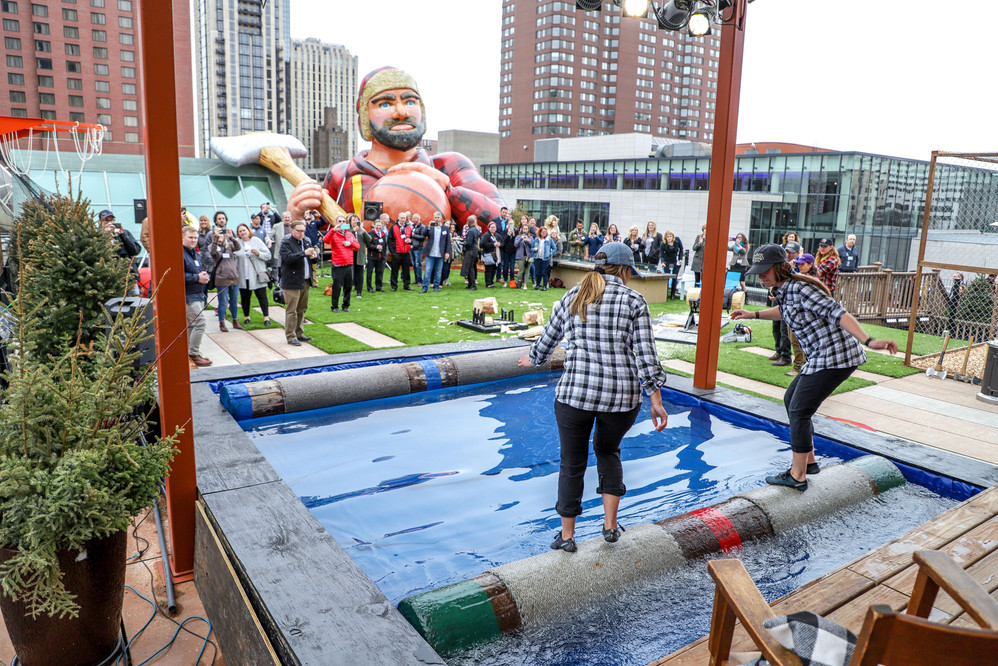 WCCO, Final Four Lumberjam Rooftop Event '19