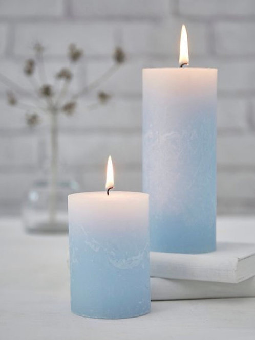 2 pack one large one medium all natural soy scented PILLAR candle