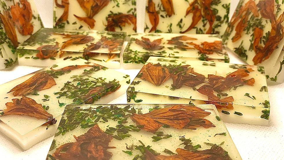 Lavender Lily Lilac Handmade 100% Organic Vegan CBD Scented Artisanal Soaps