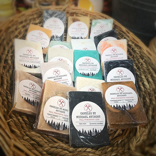 Fall Fragrance Collection Scented Handmade Organic Artisan Soaps