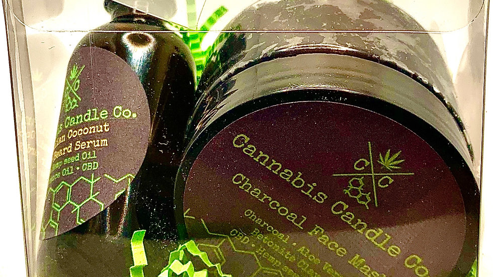 GIFT SET NUMBER 2- CHARCOAL FACE MASK, HAIR SERUM, BATH FIZZY