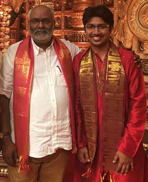 With the legendary composer Sri M.M. Keeravani