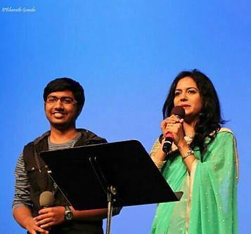 With popular playback singer/dubbing artist Smt.Sunitha