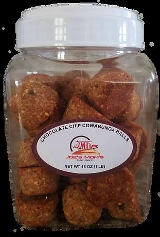CHOCOLATE CHIP COWABUNGA BALLS 1lb canister