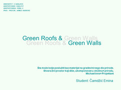 Green Roofs & Green Walls