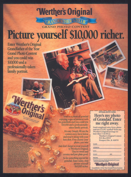 Werther's Grandfather Photo Promotion