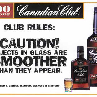 Canadian Club Magazine Ad