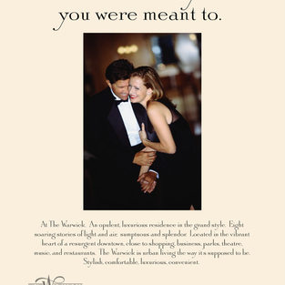 The Warwick Condominium Magazine Ad