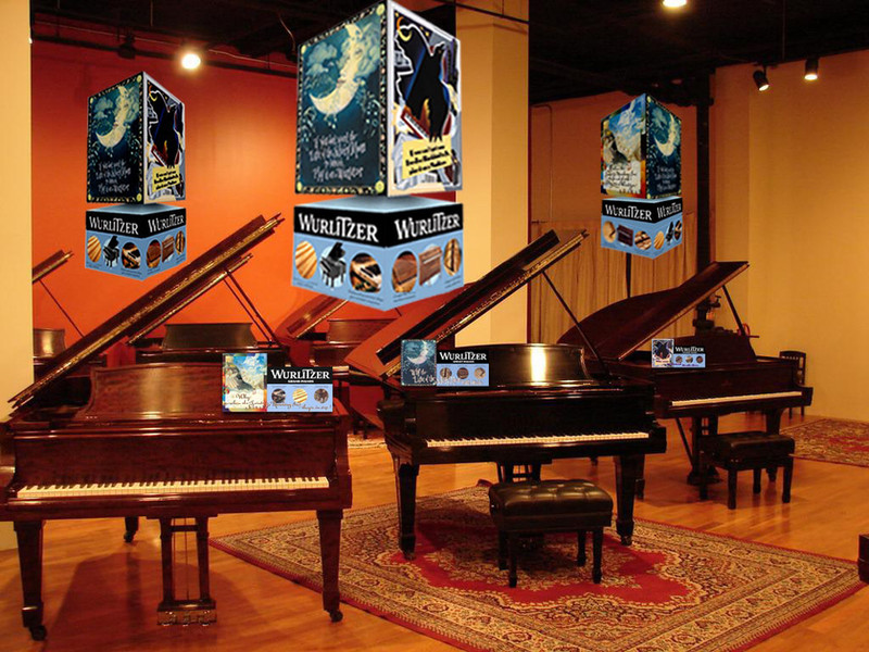 Wurlitzer Point of Sale Mobiles and Counter Cards