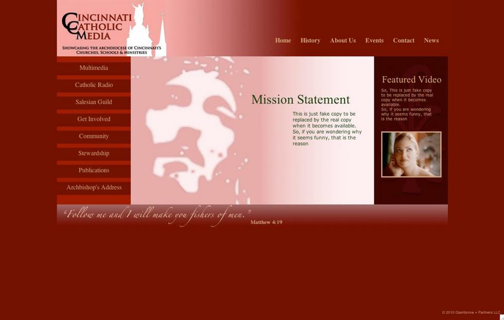 Cincinnati Catholic Media Proposed Website