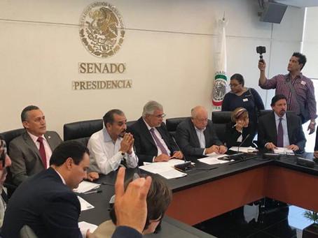Dialoga Joel Padilla con dirigentes sindicales, proponen una agenda legislativa