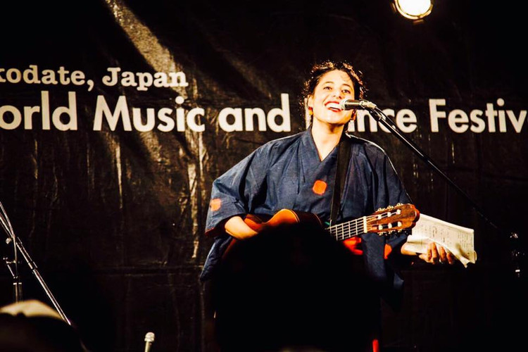 Performing at Hakodate world Music Festi