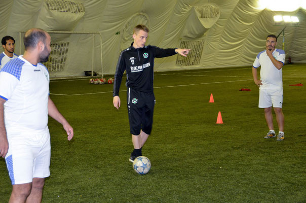 Training auf dem Platz