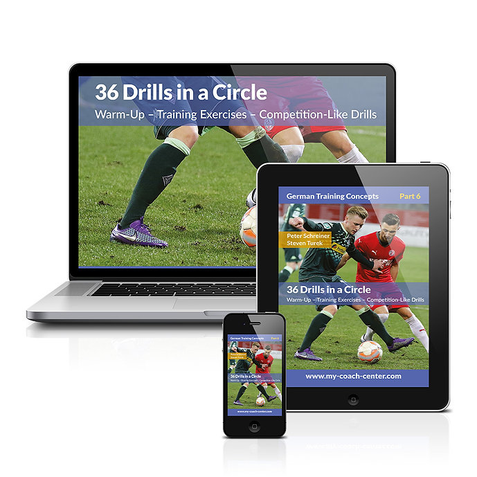 Drills in a circle Football