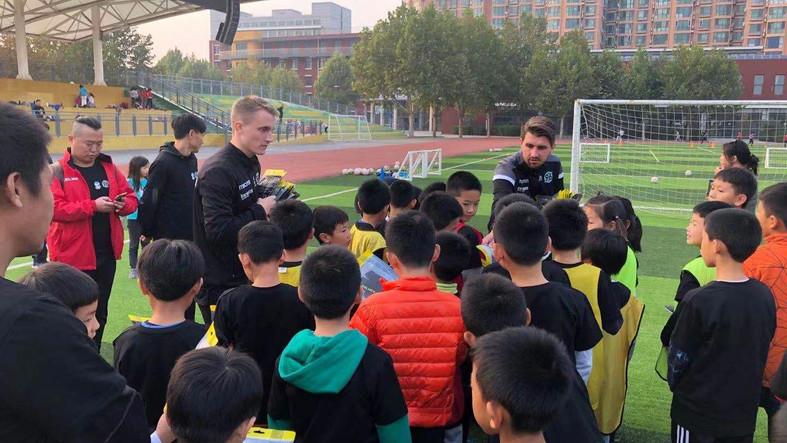 Fußballschule in Peking