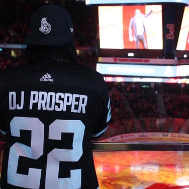 DJ Prosper on the party deck