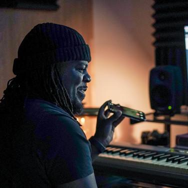 DJ Prosper in the studio