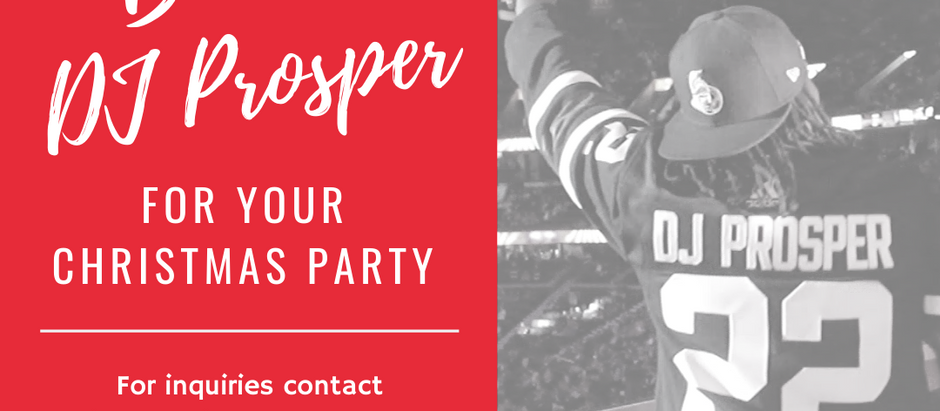 Book DJ Prosper for your Christmas party