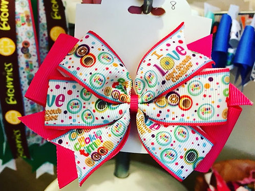 It's Cookie Time double pinwheel bow
