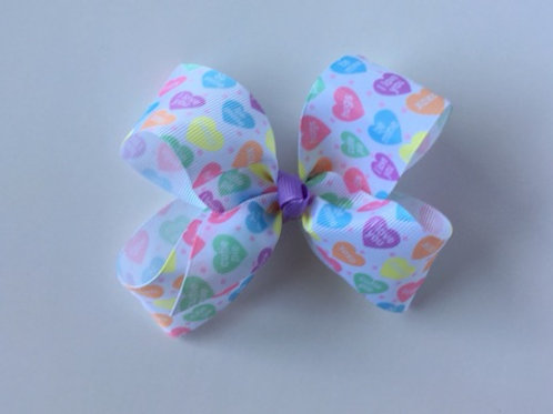 Conversation Hearts Loopy Bow