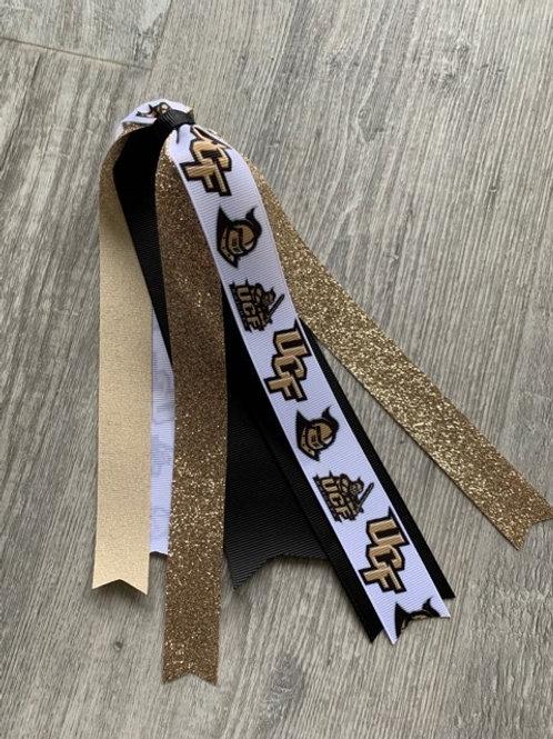 UCF Knights streamer bow