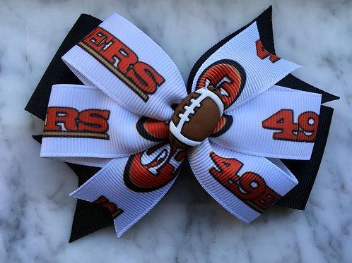 San Francisco 49ers double pinwheel bow