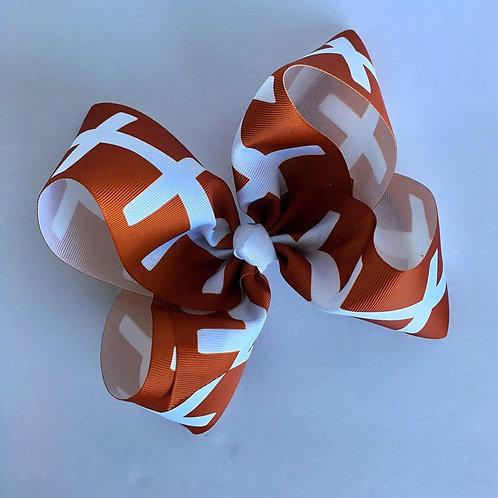 Football Texas sized Loopy Bow