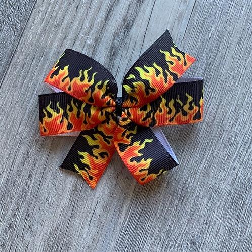 SALE flames mini pinwheel
