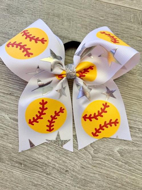 Softball Cheer Bow