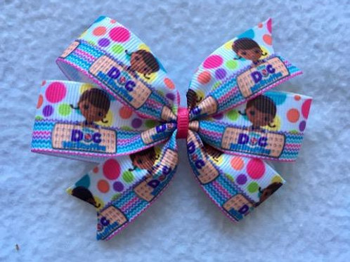 Doc McStuffins Mini Pinwheel Bow