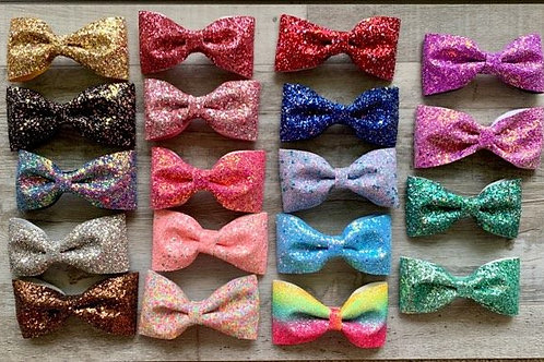 Chunky Glitter Bow-tie Bow