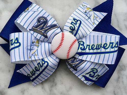 Milwaukee Brewers double pinwheel bow