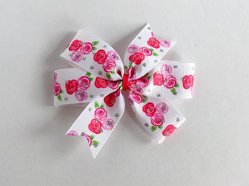 Tea Roses mini pinwheel bow