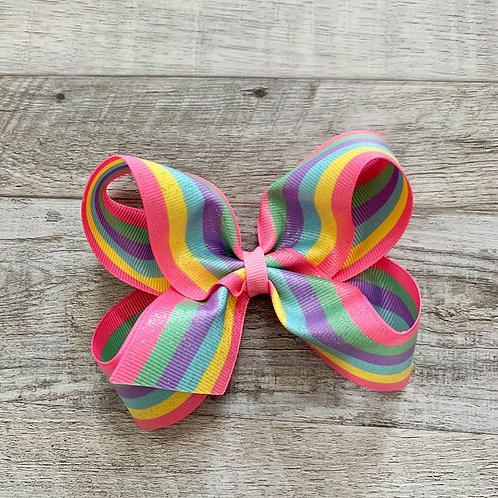 Glitter Rainbow Loopy Bow