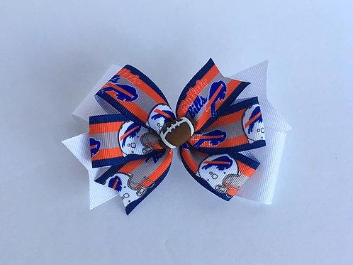 Buffalo Bills double pinwheel bow