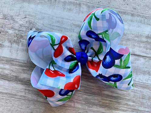 Picnic in the Park Texas Size Loopy Bow