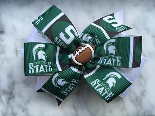 Michigan State Spartans double pinwheel bow