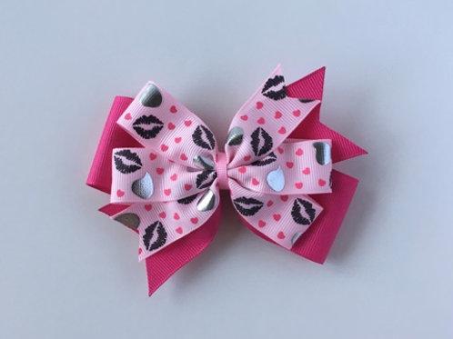 Chocolate Kisses Double Pinwheel Bow