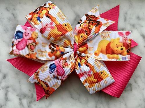 Winnie the Pooh Double Pinwheel Bow