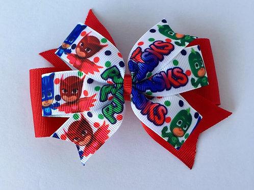 PJ Masks Double Pinwheel Bow