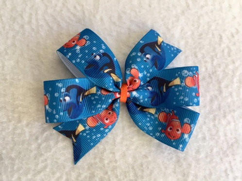 Nemo & Dory Mini Pinwheel Bow