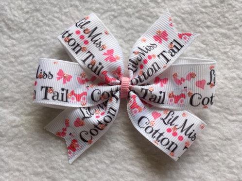 Little Miss Cotton Tail Mini Pinwheel Bow