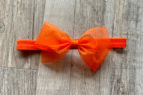 Orange Sheer Sparkle Baby Headband