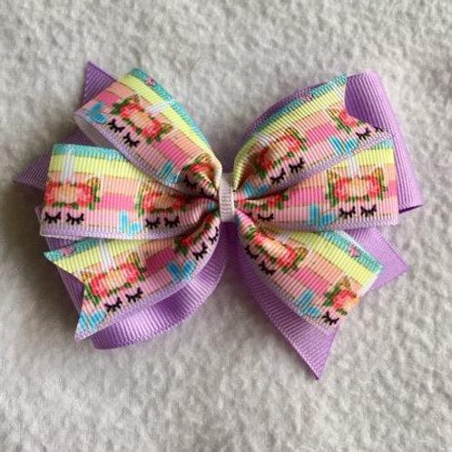 Unicorns Double Pinwheel Bow