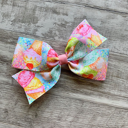 Ice Cream Dream single loop bow