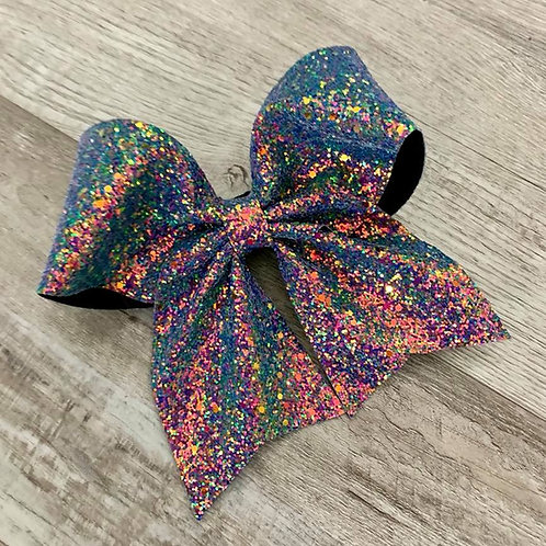 Moonlight Opal Chunky Glitter Cheer Bow
