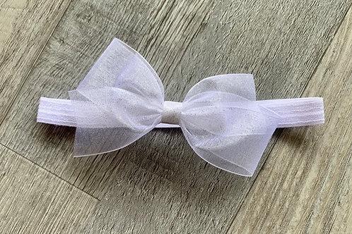 White Sheer Sparkle Baby Headband