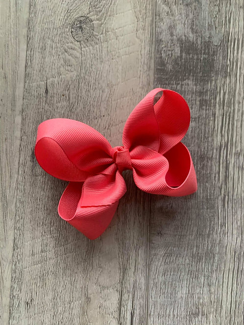 SALE Coral  Loopy Bow