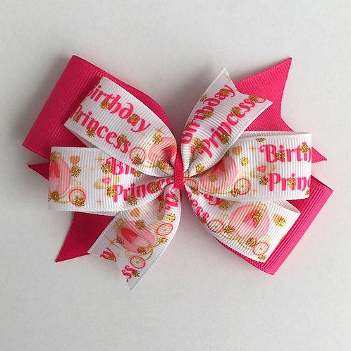 Birthday Princess Double Pinwheel Bow
